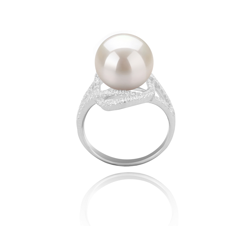 10-11mm AAAA Quality Freshwater Cultured Pearl Ring in Maddie White - #4