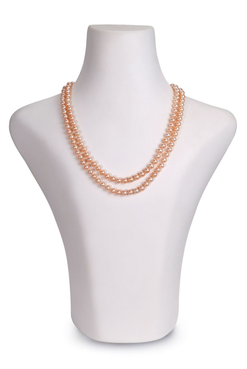 6-7mm AAA Quality Freshwater Cultured Pearl Necklace in Marla Pink - #2