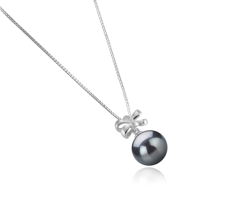 10-11mm AAA Quality Tahitian Cultured Pearl Pendant in Marte Black - #3