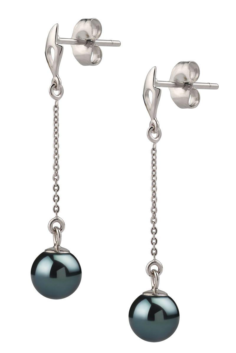 6-7mm AA Quality Japanese Akoya Cultured Pearl Earring Pair in Misha Black - #2