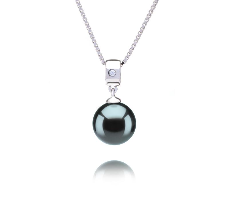 9-10mm AAA Quality Tahitian Cultured Pearl Pendant in Nicole Black - #1