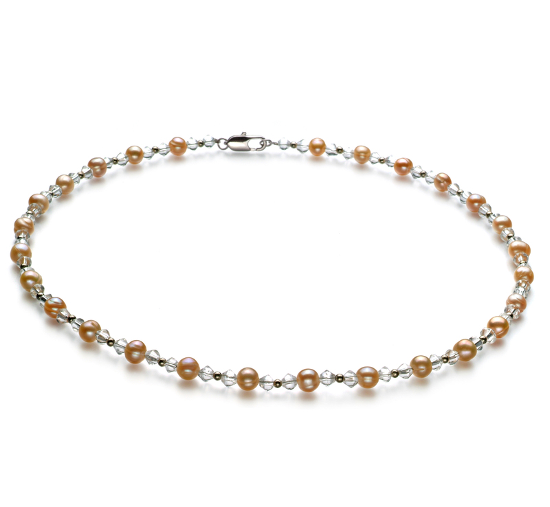 6-7mm A Quality Freshwater Cultured Pearl Necklace in Paige Pink - #1