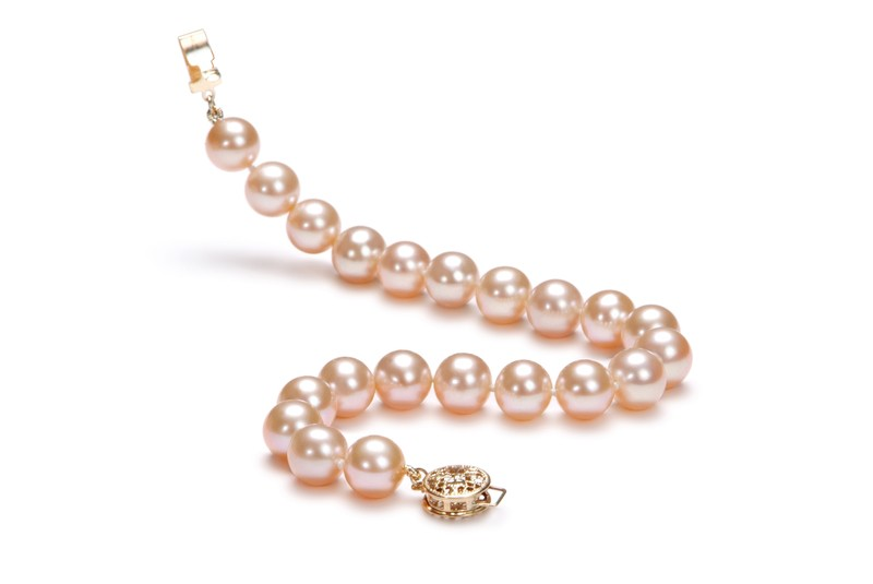 8-8.5mm AAA Quality Freshwater Cultured Pearl Bracelet in Pink - #3