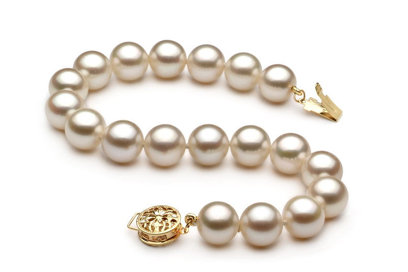 8-8.5mm AAAA Quality Freshwater Cultured Pearl Bracelet in White - #2