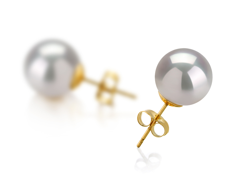 10-11mm AAA Quality South Sea Cultured Pearl Earring Pair in White - #3