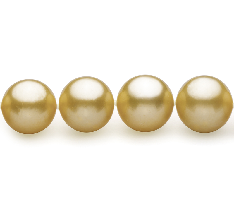 9-11.8mm AAA Quality South Sea Cultured Pearl Necklace in Gold - #3