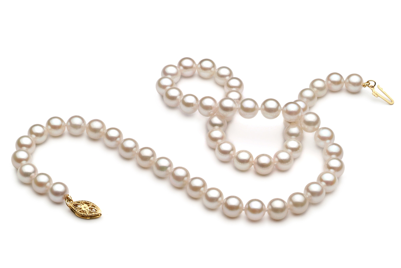 6-7mm A+ Quality Chinese Akoya Cultured Pearl Necklace in White - #3