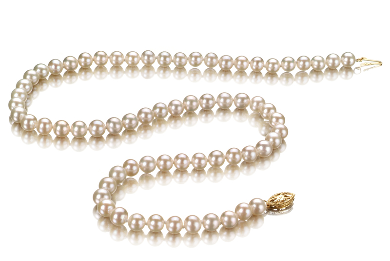 5.5-6mm AAA Quality Freshwater Cultured Pearl Necklace in White - #2