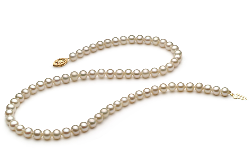 5.5-6mm AAA Quality Freshwater Cultured Pearl Necklace in White - #4