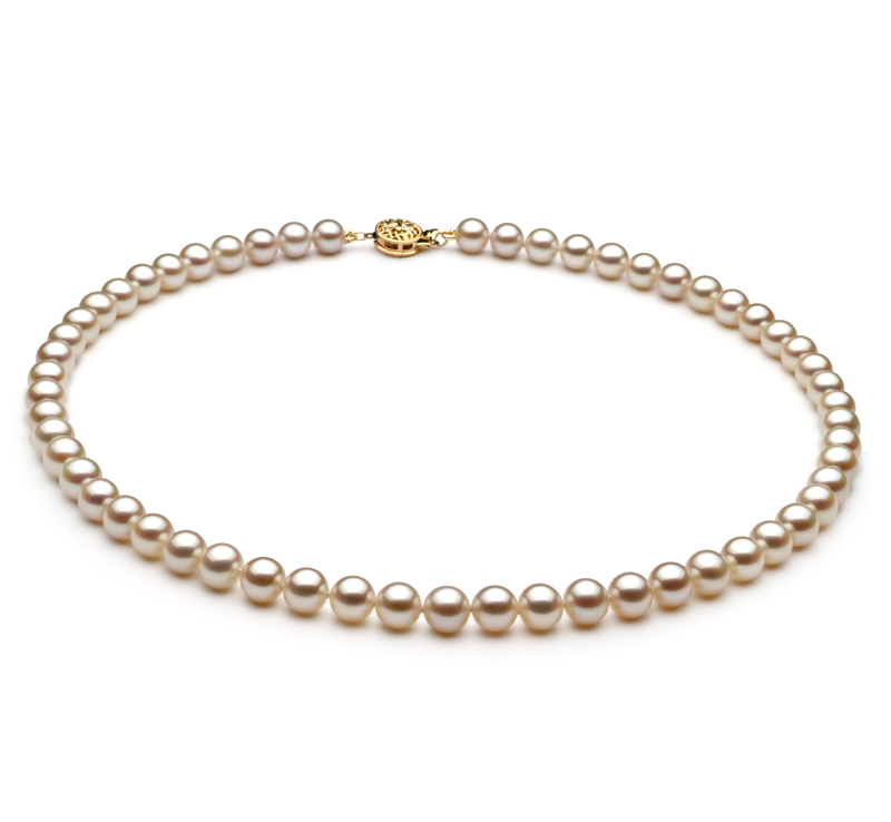 6-7mm AAA Quality Freshwater Cultured Pearl Necklace in White - #1
