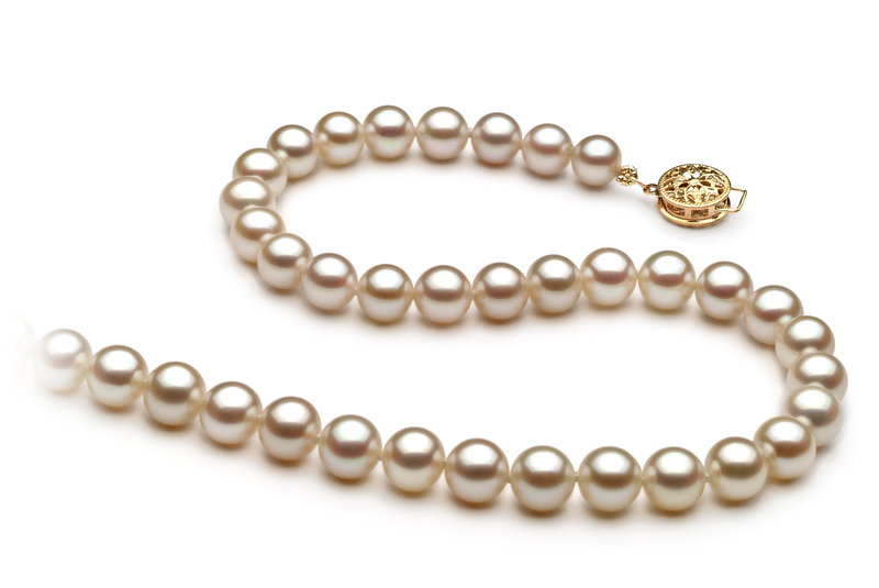6-7mm AAA Quality Freshwater Cultured Pearl Necklace in White - #3