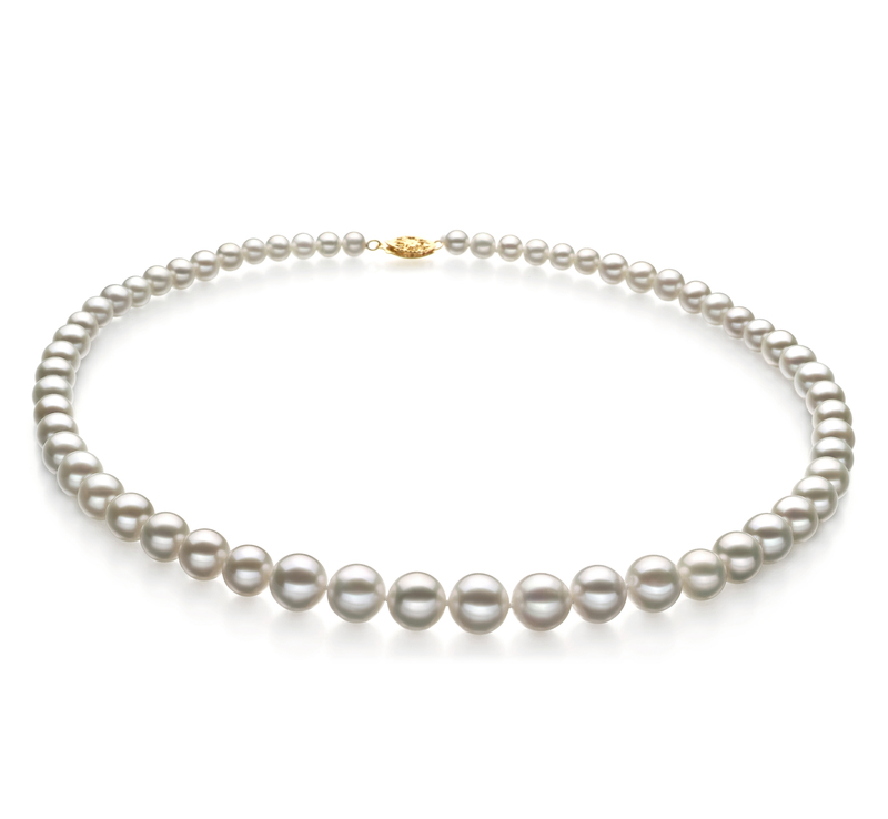 5-10mm AAA Quality Freshwater Cultured Pearl Necklace in White - #1