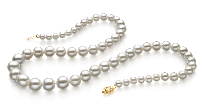 5-10mm AAA Quality Freshwater Cultured Pearl Necklace in White - #2