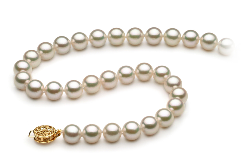 7.5-8mm AAA Quality Japanese Akoya Cultured Pearl Necklace in White - #2