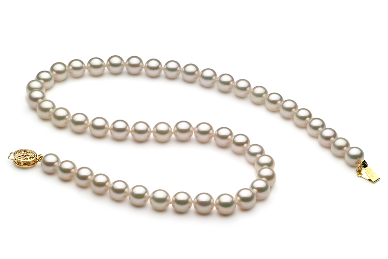7.5-8mm AAA Quality Japanese Akoya Cultured Pearl Necklace in White - #3