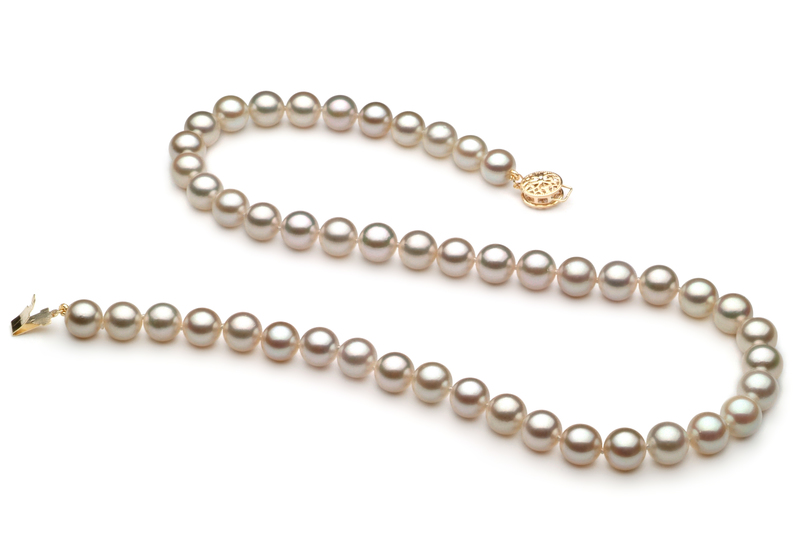 7-7.5mm AA Quality Japanese Akoya Cultured Pearl Necklace in White - #2