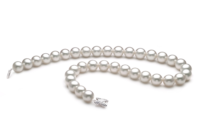 12-13mm AAA Quality South Sea Cultured Pearl Necklace in White - #2