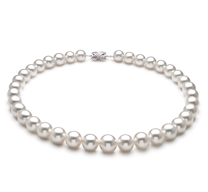 10-14mm AAA+ Quality South Sea Cultured Pearl Necklace in White - #1