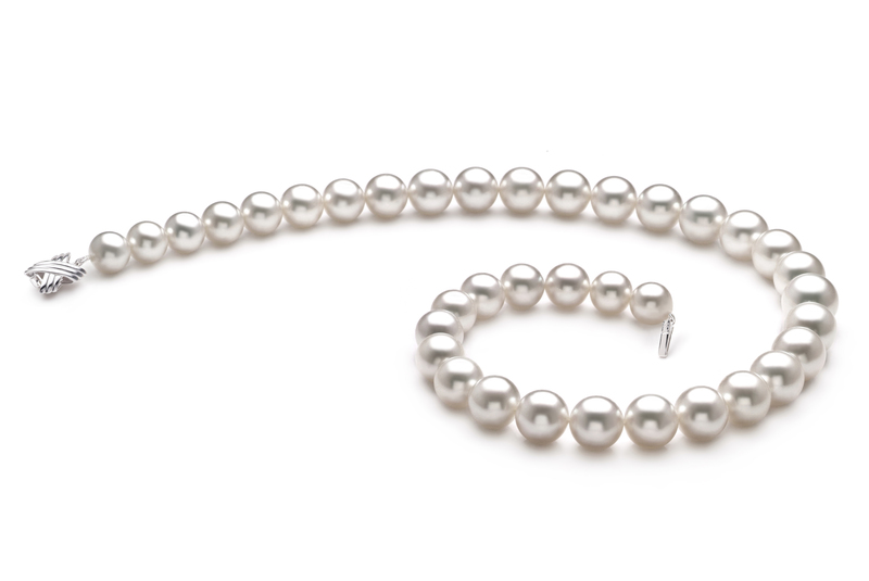 10-14mm AAA+ Quality South Sea Cultured Pearl Necklace in White - #2