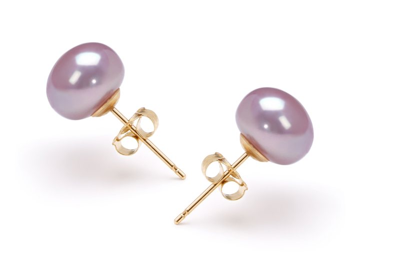 7-8mm AA Quality Freshwater Cultured Pearl Set in Lavender - #4