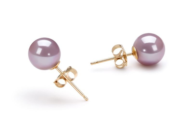 6-6.5mm AAAA Quality Freshwater Cultured Pearl Set in Lavender - #4