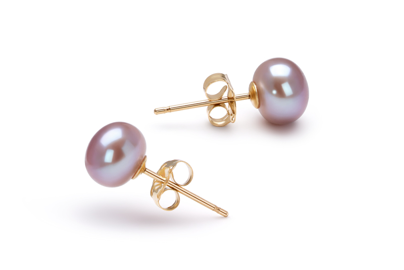 6-6.5mm AAA Quality Freshwater Cultured Pearl Set in Lavender - #4