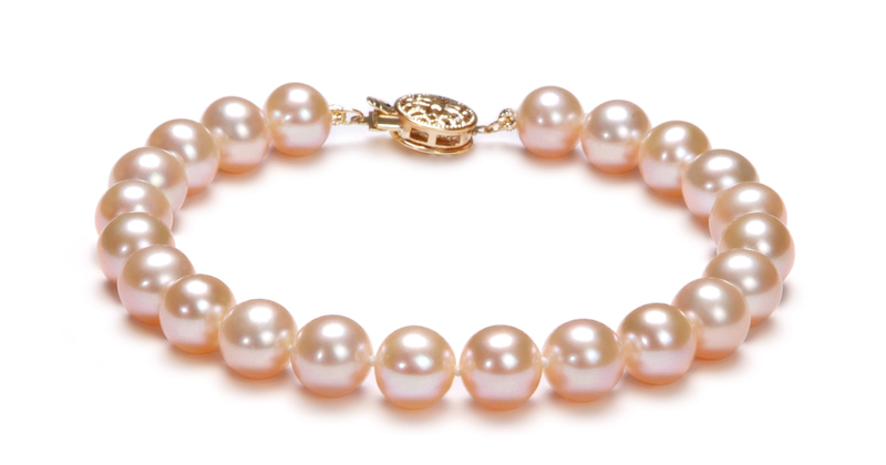 7-8mm AAA Quality Freshwater Cultured Pearl Set in Pink - #3