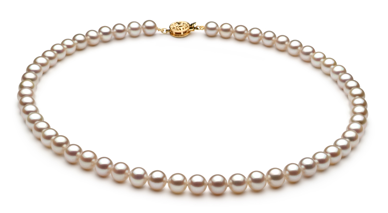 6-7mm AAAA Quality Freshwater Cultured Pearl Set in White - #2