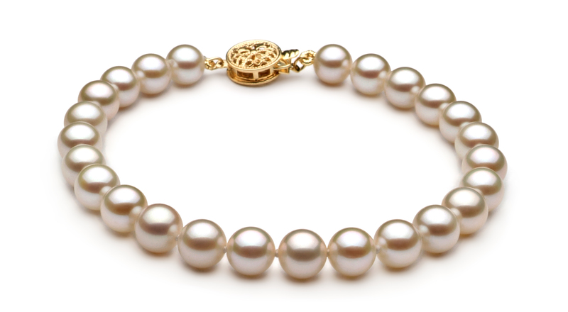 6-7mm AAAA Quality Freshwater Cultured Pearl Set in White - #3