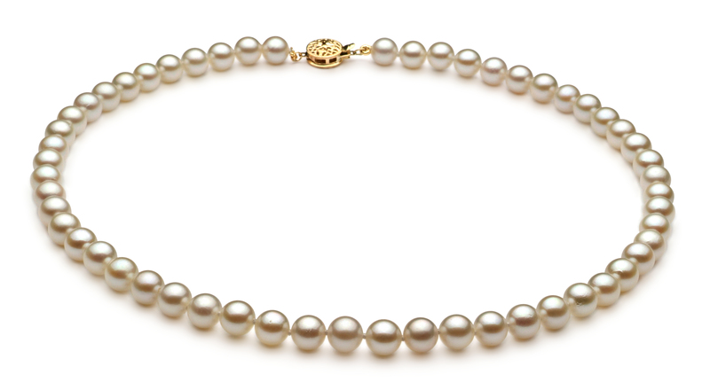 6.5-7mm AA Quality Japanese Akoya Cultured Pearl Set in White - #2