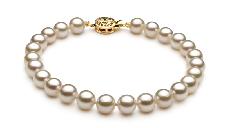 6.5-7mm AA Quality Japanese Akoya Cultured Pearl Set in White - #3