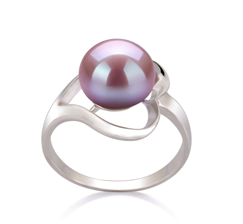 9-10mm AA Quality Freshwater Cultured Pearl Ring in Sadie Lavender - #1