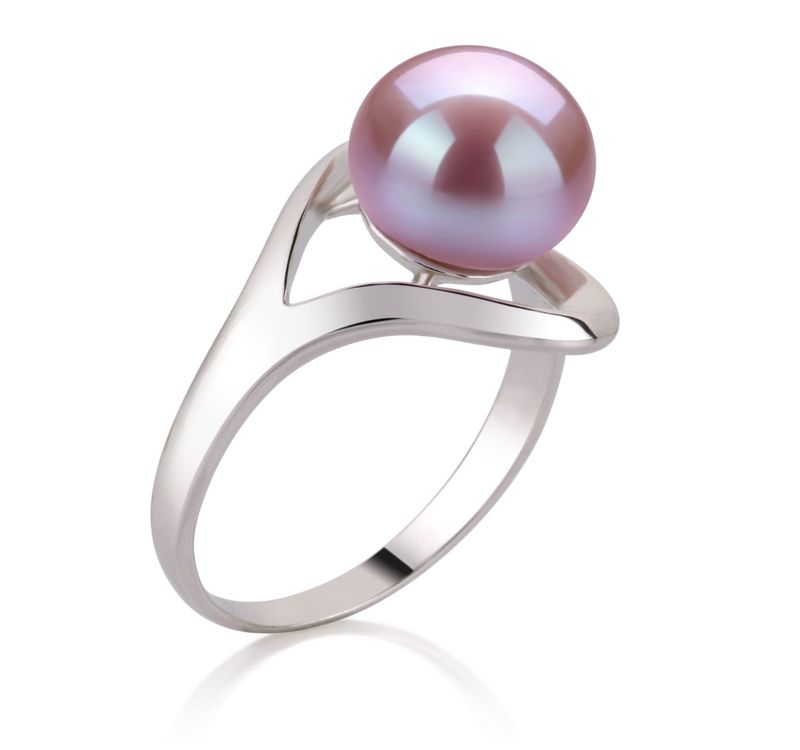 9-10mm AA Quality Freshwater Cultured Pearl Ring in Sadie Lavender - #2