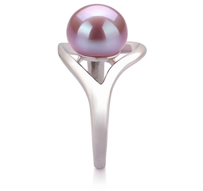 9-10mm AA Quality Freshwater Cultured Pearl Ring in Sadie Lavender - #5