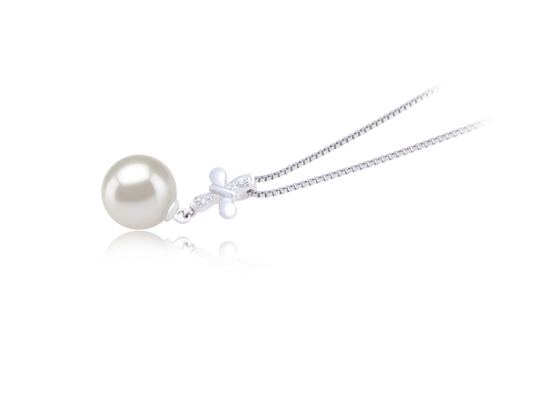 9-10mm AAAA Quality Freshwater Cultured Pearl Pendant in Taylor White - #2
