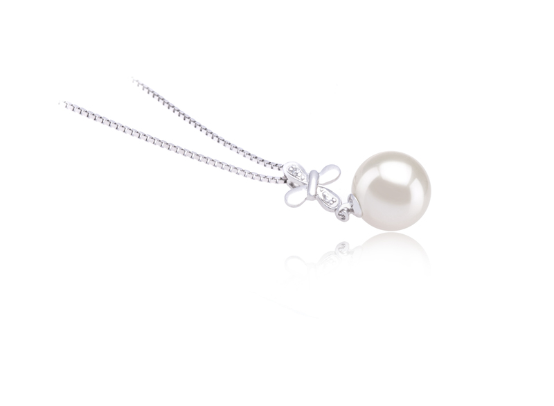 9-10mm AAAA Quality Freshwater Cultured Pearl Pendant in Taylor White - #3