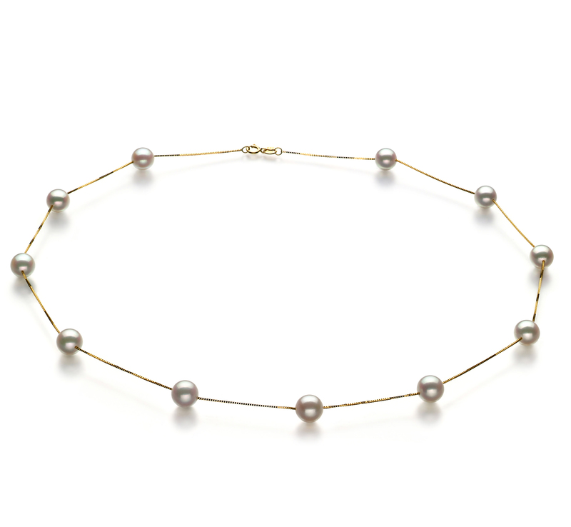 6-7mm AA Quality Japanese Akoya Cultured Pearl Necklace in Tin Cup White - #1
