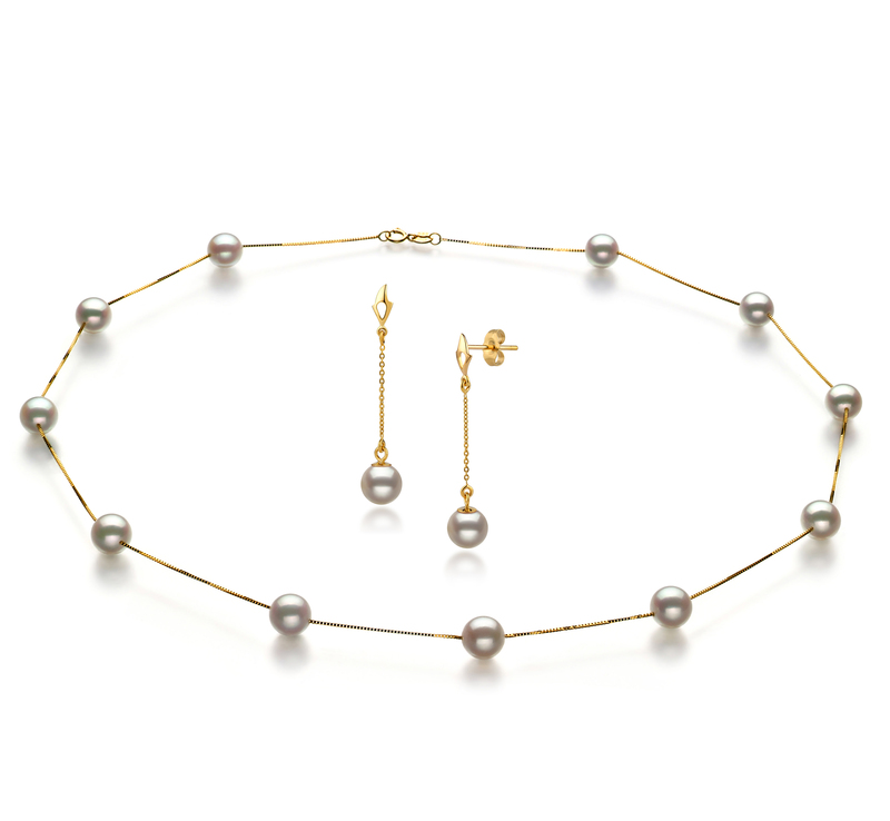 6-7mm AA Quality Japanese Akoya Cultured Pearl Set in Tin Cup White - #1