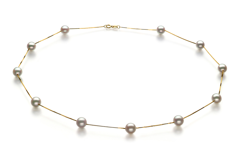 6-7mm AA Quality Japanese Akoya Cultured Pearl Set in Tin Cup White - #2