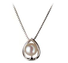 6-7mm AA Quality Japanese Akoya Cultured Pearl Pendant in Amanda White