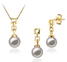 6-7mm AA Quality Japanese Akoya Cultured Pearl Set in Anya White