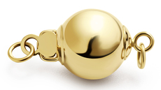 Ball - 14k Yellow Gold  x2