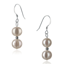 PearlsOnly - Cerella White 6-7mm A Quality Freshwater 925 Sterling Silver Cultured Pearl Earring Pair Pearl Earring Set