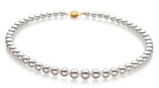 Hanadama 23-inch White 6-9mm Hanadama - AAAA Quality Japanese Akoya 14K Yellow Gold Cultured Pearl Necklace