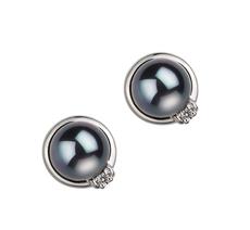 Jocelyn Black 6-7mm AA Quality Japanese Akoya 925 Sterling Silver Cultured Pearl Earring Pair Pearl Earring Set