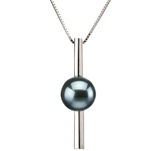 7-8mm AA Quality Japanese Akoya Cultured Pearl Pendant in Johana Black