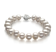 PearlsOnly - Kaitlyn White 8-9mm A Quality Freshwater Cultured Pearl Bracelet