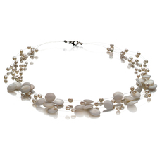 Keita White 4-10mm A Quality Freshwater Cultured Pearl Necklace