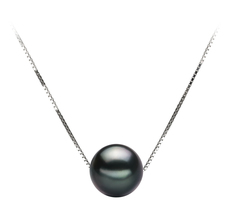 8-9mm AA Quality Tahitian Cultured Pearl Pendant in Kristine Black