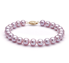 Lavender 7-8mm AA Quality Freshwater Cultured Pearl Bracelet